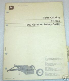 John Deere 507 Gyramor Rotary Cutter Parts Catalog jd