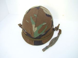 Original US Military Vietnam Era Steel Helmet w/Cover & Liner