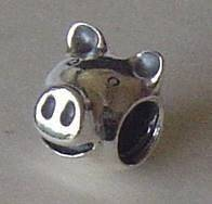Authentic Pandora Sterling Silver RETIRED Pig Charm 790214