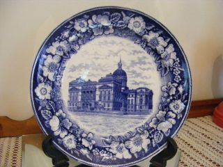 PETRUS REGOUT MAASTRICHT HOLAND BLUE STATE HOUSE INDANAPOLIS PLATE