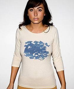 NEWTG American Apparel Asian Japanese crane shirt top