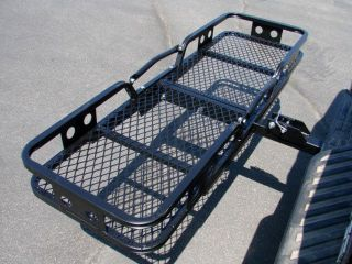 FOLDING CARGO CARRIER LUGGAGE BASKET 2 RECEIVER HITCH TRUCK SUV PICK