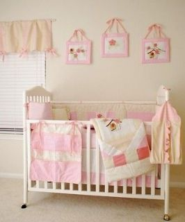 Newly listed 11 PCS Boutique Baby Girl Flower&Bird Crib Bedding Set
