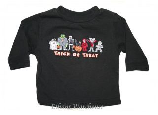 New HALLOWEEN SHIRT Trick Or Treat Costume Characters 3/6 12 18 months