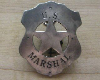 MARSHALL BADGE B W  4 SHERIFF WESTERN POLICE CHRISTMAS!!