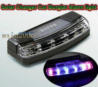 LED Solar Charger Car Violent flash Burglar Alarm Auto light Sensitive