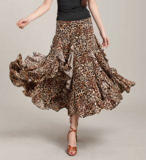 woman ballroom modern dance dress flamingo waltz tango flouncing dance