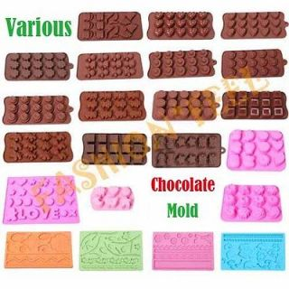 Shapes Silicone Mold Chocolate Muffin Jelly Ice Cake Baking DIY Tools