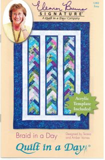 Braid in a Day Quilt Pattern #1284 by Quilt in a Day, Acrylic Template