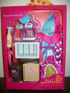 Generation Horse Grooming Set fits 18 American Girl doll Battat NIB