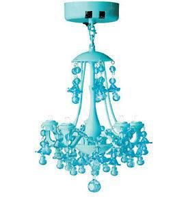 Battery Operated Magnetic LED Locker Chandelier Light   Aqua Blue