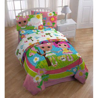 Lalaloopsy 4pc TWIN BEDDING SET, Comforter Sheets Sheet Pillowcase NEW
