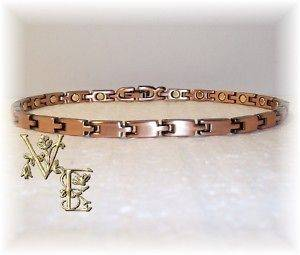 LOVELY PUZZLE PIECE STYLE SLIM COPPER MAGNETIC ANKLET