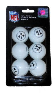 NFL Pittsburgh Steelers Logo Table Tennis Ping Pong Balls Beer Pong