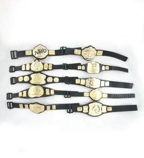 Lot of 10 5 WWE Wrestling Champion Belt For Figure