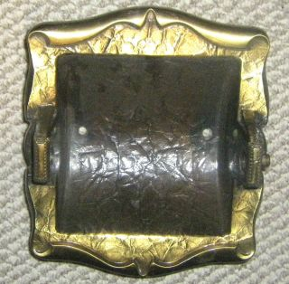 CARRIAGE HOUSE BRASS BATHROOM RECESSED TOILET PAPER/TISSUE HOLDER