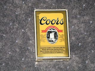 COORS BEER PLAYING CARDS DECK SEALED NEW CHRISTMAS STOCKING STUFFER