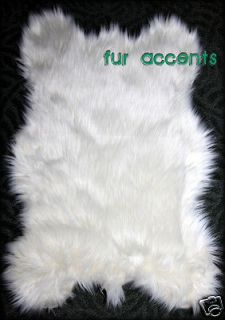 15X24 PLUSH BEAR ACCENT RUG / FAUX FUR SHEEP SKIN AREA RUGS / LODGE