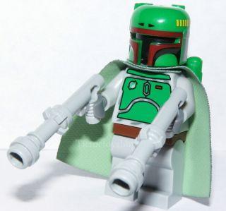 LEGO STAR WARS BOBA FETT MINI FIGURE OLD STYLE & TWIN GREY BLASTERS