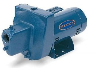 BERKELEY 10SN SHALLOW WELL JET/BOOSTER PUMP 1HP 115/230V CAST IRON 1