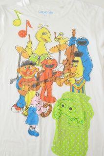 Big Bird T Shirt SESAME STREET Elmo Band Cookie Bert Ernie XL Extra