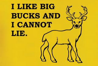 AMERICAN APPAREL I LIKE BIG BUCKS DEER HUNTING FUNNY T SHIRT S M L XL