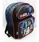 Lego Star Wars 16 Large Backpack School Bag Black Darth Vader Luke