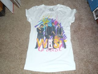 BIG TIME RUSH WEST COAST WHITE T SHIRT NEW WITH TAGS CARLOS KENDALL