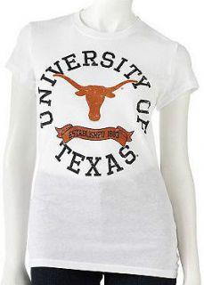 NWT UT Texas Longhorns Light weight Cotton Blend Gray Pennant T Shirt