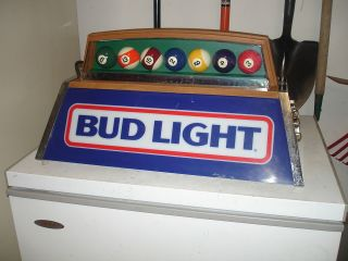Vintage Bud Light Hanging Pool Table Light Budweiser