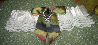 REDNECK Garter HUNTER Wedding Bridal CAMO BIG BUCK DEER
