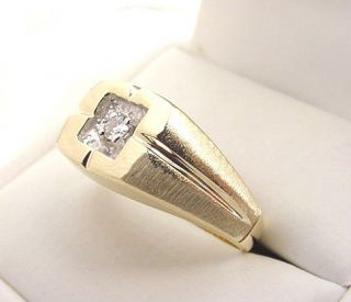 mens gold rings in Vintage & Antique Jewelry