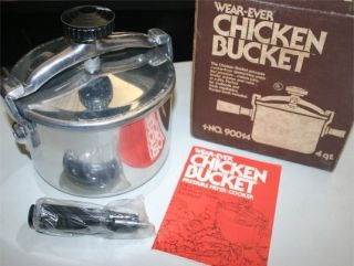 Vintage Wear Ever Fried Chicken Bucket 4 qt. Low Pressure Fryer Cooker