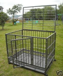 New 48 Heavy Duty Level III Dog Pet Cat Bird Crate Cage Kennel HS