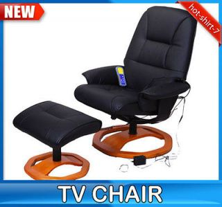 New Black Office TV Recliner Massage Chair Professional Leather With