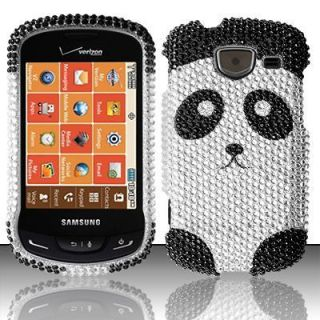 For Samsung Brightside U380 Crystal BLING Hard Case Phone Cover Panda
