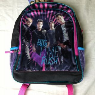 NWT Officially Licensed Big Time Rush BTR Backpack Nickelodeon 16x12