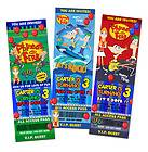 PHINEAS AND FERB & BIRTHDAY PARTY INVITATION TICKET 1ST  A10 CUSTOM
