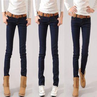 dark blue skinny jeans in Jeans
