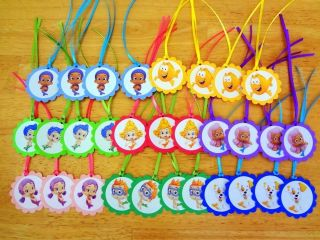 30 BUBBLE GUPPIES inspired GIFT TAGS birthday party favors