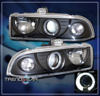 98 04 CHEVY BLAZER S10 PICKUP HALO PROJECTOR HEADLIGHT LAMP BLACK 99