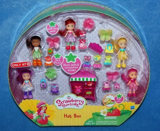 NEW Strawberry Shortcake Hat Box Mini Doll & Clothing Lot Exclusive