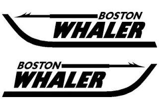 Pair of Boston Whaler Boat Vinyl Decals Stickers