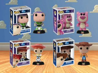 Funko Pop! Disney Toy Store Buzz Lightyear Woody Jessie Lotso Vinyl