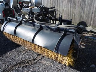 BA 22 broom / sweeper with wheel loader brackets   skid steer