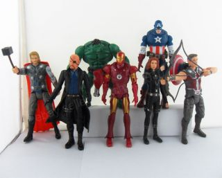 7pcs 6 The Avengers figure Iron Man Captain America Hulk Thor Hawkeye