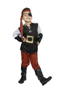 Kids Child Boys Pirate Halloween Costume, Size 5,6,7,8 Ahoy Matey