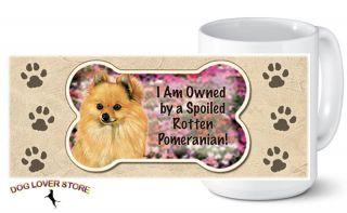 Pomeranian Ceramic Dog Breed Coffee Mug Tea Cup 14 oz.   USA Made
