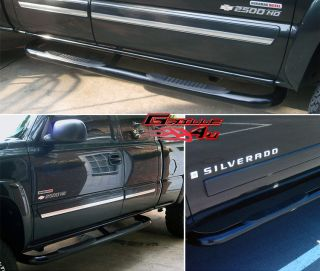 /Sierra Ext Cab Black Nerf Bars (Fits More than one vehicle