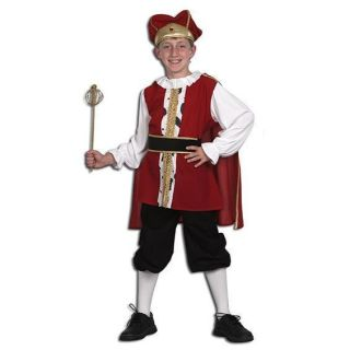 BOYS TUDOR MEDIEVAL KING FANCY DRESS COSTUME